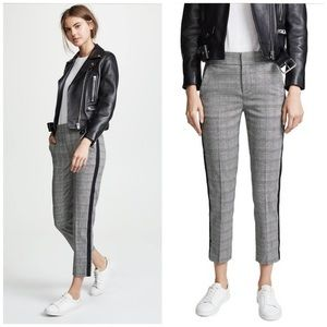 Joie Kenadia Plaid Cropped Pants 10